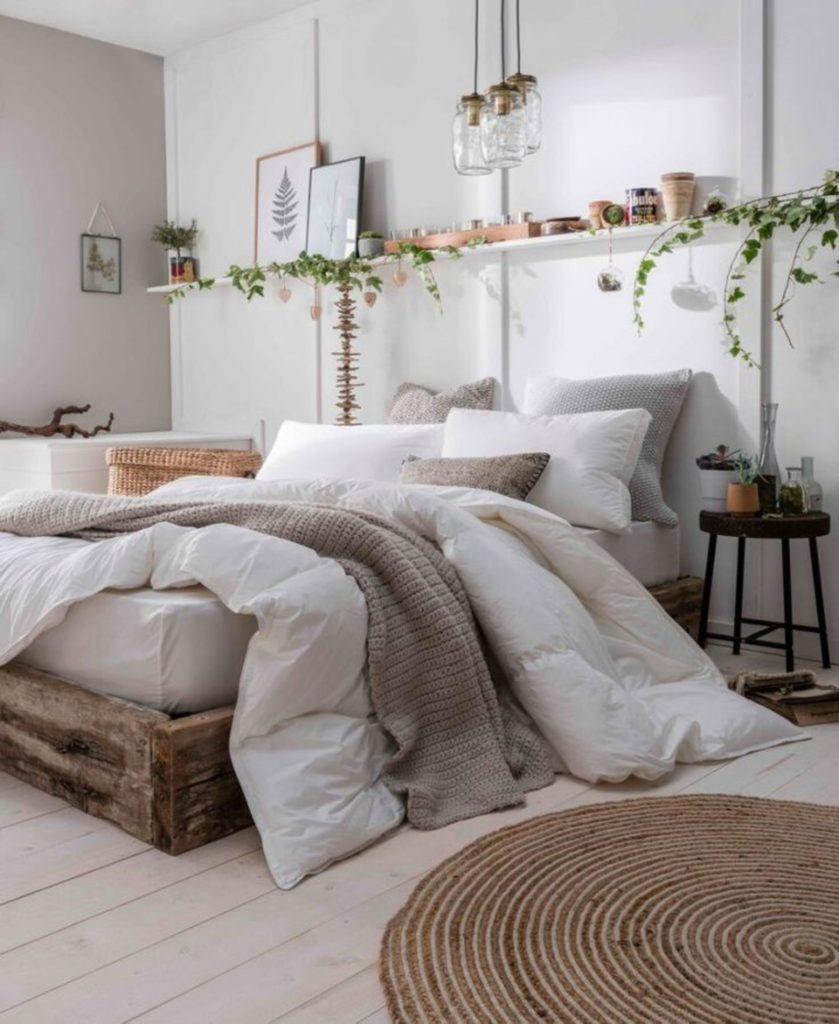 спальня в винтажном стиле
