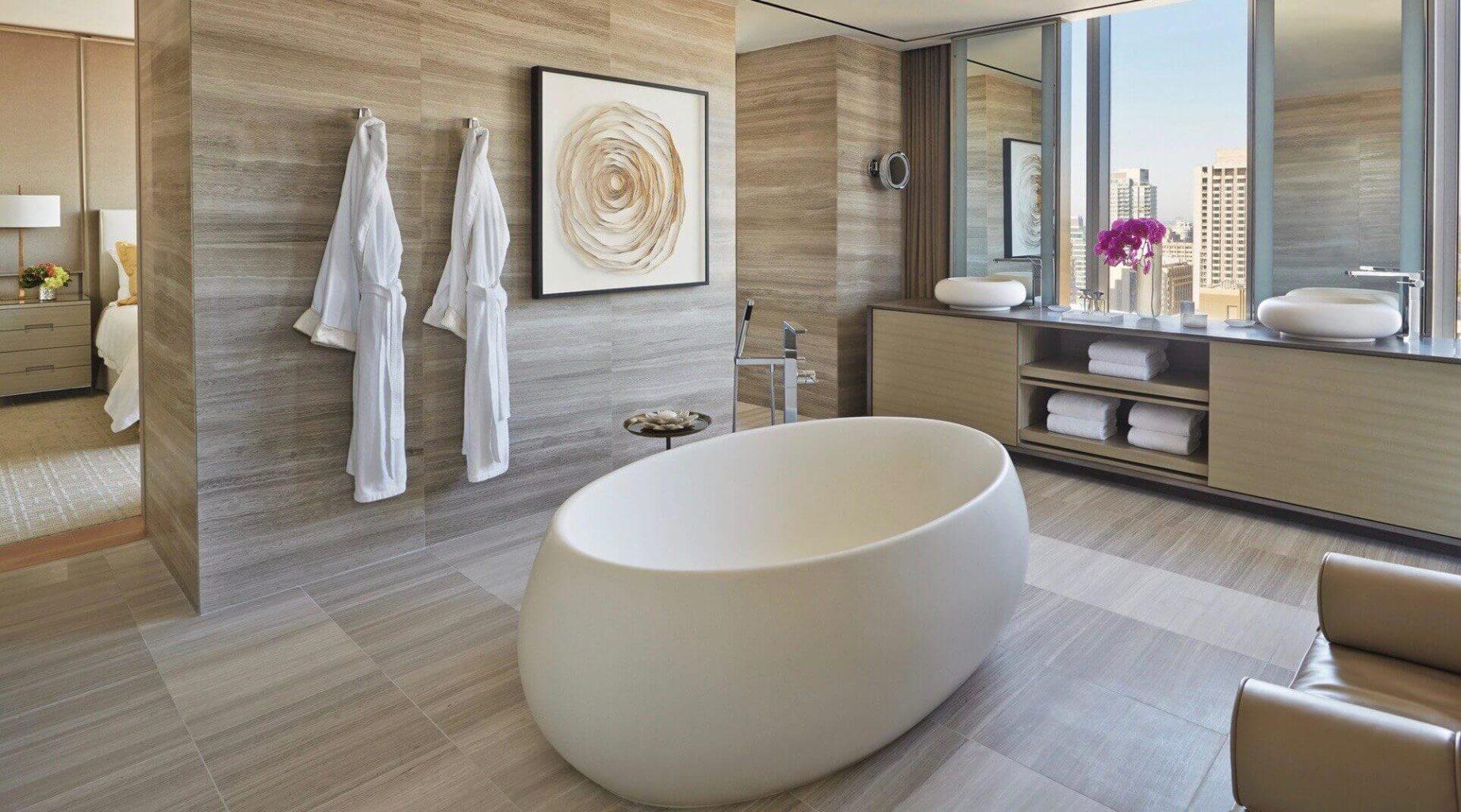 отдельно стоящая ванна