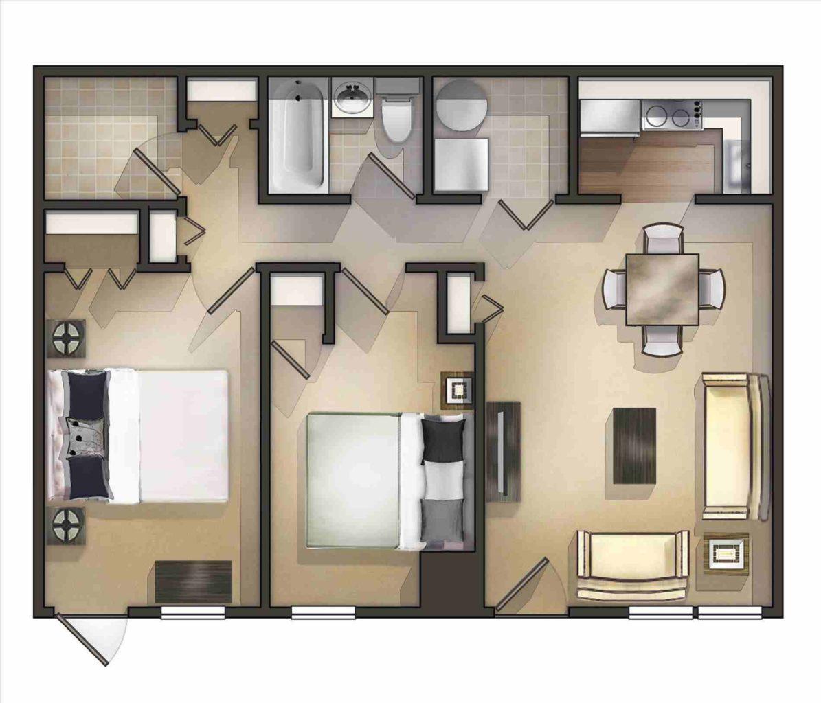 готовый дизайн- проект квартиры 3d
