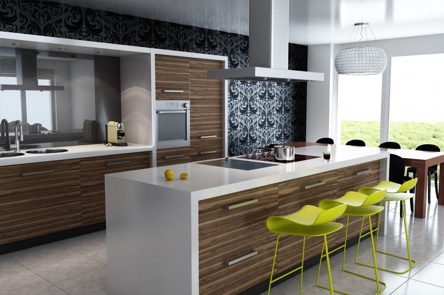 дизайн интерьера стен кухни