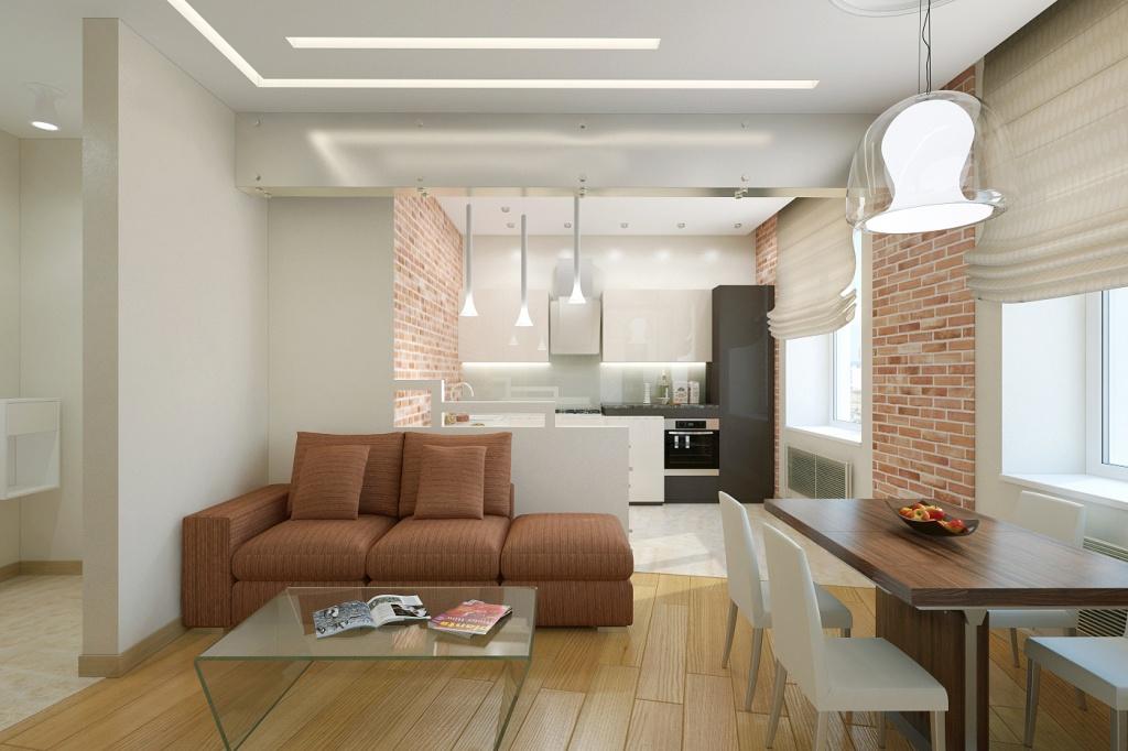 Семья с ребенком в двухкомнатной квартире – варианты дизайна