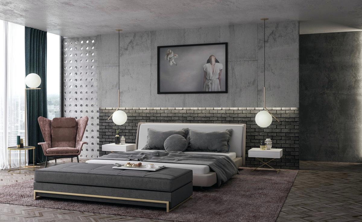 индустриальная спальня
