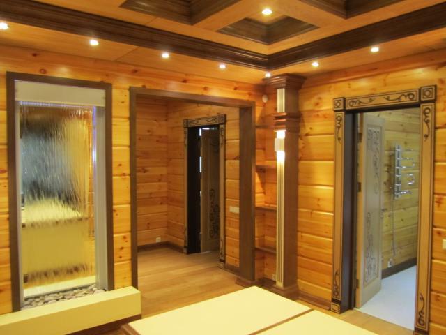 Дом из клееного бруса – секреты стильного дизайна