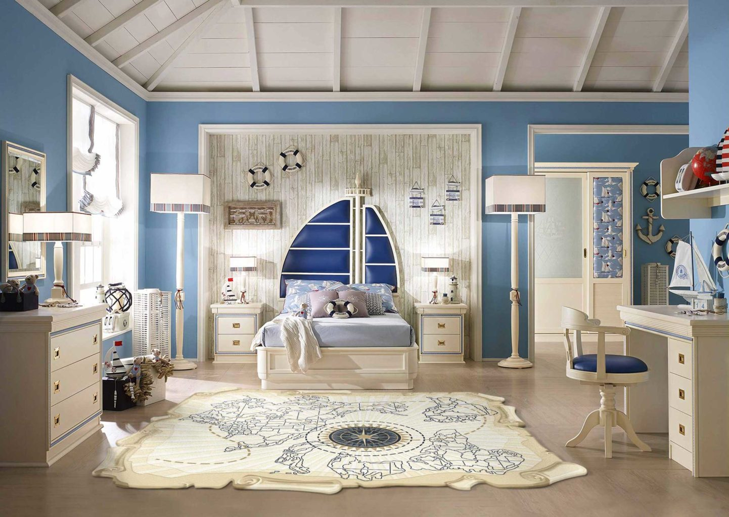 Спальня для детей хранение вещей