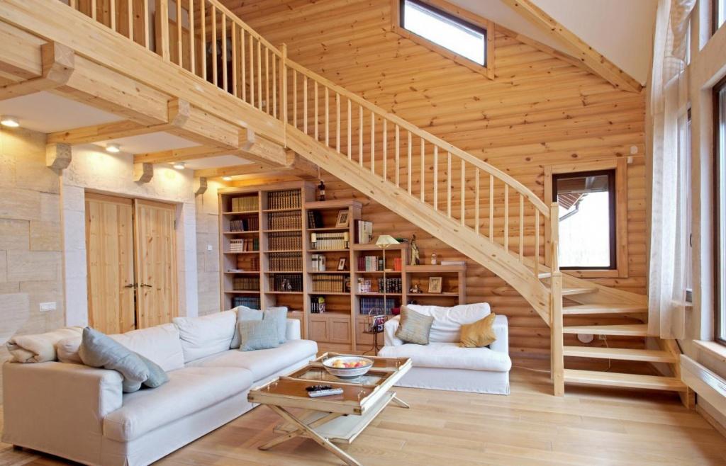 Дизайн бревенчатого дома – экологичность, удобство и уют