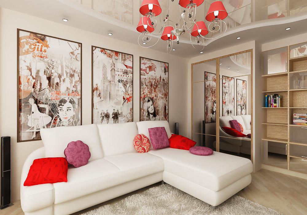 Дизайн однокомнатной квартиры хрущевки – 60 полезных идей
